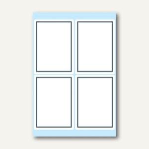 Herma Buchetiketten, selbstklebend, 40 x 55 mm, grauer Rand, 10 x 6 Blatt, 5713