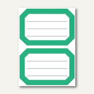 Herma Buchetiketten, 82x55mm, grüner Rand, liniert, selbstklebend, 120St., 5716