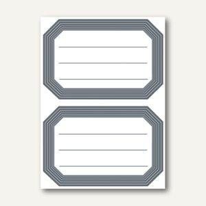 Herma Buchetiketten, 82x55mm, grauer Rand, liniert, selbstklebend, 120St., 5719