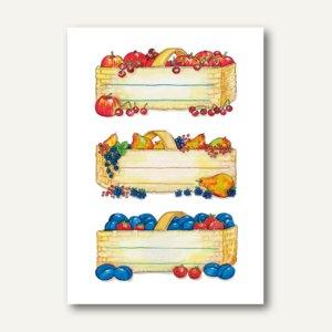 Küchenetiketten Obstkörbe