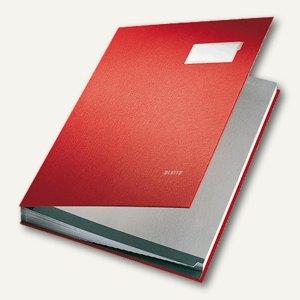 LEITZ Unterschriftenmappe DIN A4, 20 Fächer, rot, 5700-25