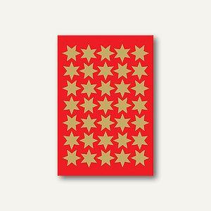 Herma Schmucketiketten, Sterne, Folie, gold, 16mm, 10 x 3 Blatt, 3904