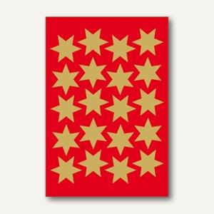 Herma Schmucketiketten, Sterne, Folie, gold, 21mm, 10 x 3 Blatt, 3905