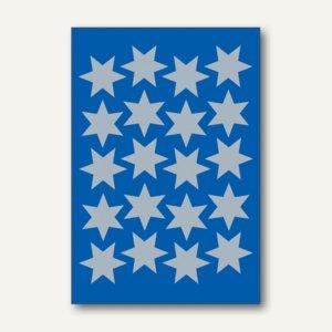 Herma Schmucketiketten, Sterne, Folie, silber, 21mm, 10 x 3 Blatt, 3906