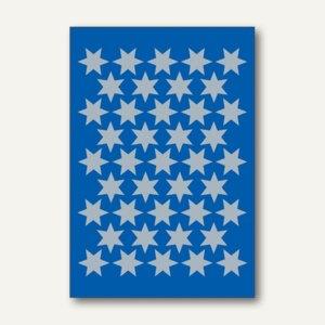 Herma Schmucketiketten Sterne, 14 mm, silber, 10 x 3 Blatt, 3922