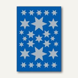 Herma Schmucketiketten, Sterne, Folie, silber, 10 x 3 Blatt, 3928