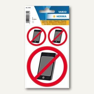 """Herma Hinweisetiketten, """"Kein Handy"""", wetterfest, 10x3 Etiketten, 5784"""