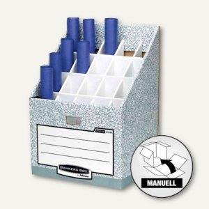 """Fellowes Bankers Box System """"Roll/Stor"""" Zeichnungsständer, 20 Fächer, 01832EU"""