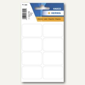 Herma Vielzweck-Etiketten, 26 x 40 mm, weiß, 10 x 56 Stück, 3690