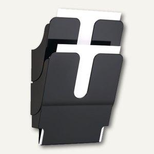 Durable Prospektspender FLEXIPLUS, 2 x DIN A4, schwarz, 1 Set, 1709008060
