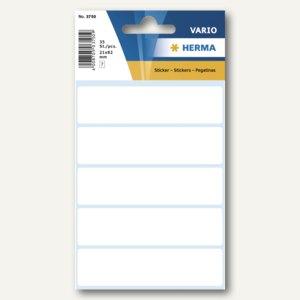 Herma Vielzweck-Etiketten, 21 x 82 mm, weiß, 10 x 35 Stück, 3750