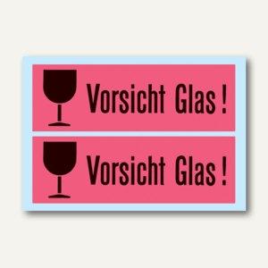 Artikelbild: Hinweisetiketten Vorsicht Glas