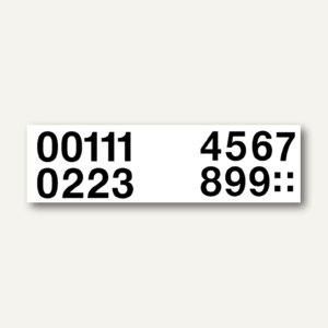 Herma Zahlen 0-9, 33 mm, wetterfest, Folie, schwarz, 10 x 2 Blatt, 4189