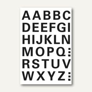 Herma Buchstaben, 15mm, A-Z, wetterfest, Folie, schwarz, 10 x 1 Blatt, 4163