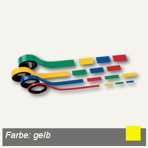 Hebel Magnetstreifen, 0.5 x 100 cm, gelb, 10 Stück, 6520115