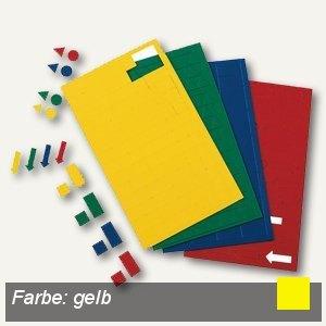 Hebel Magnetsymbole Rechteck, gelb, 168 Stück, 6531415