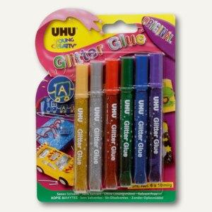 """UHU Young Creativ' Glitter Glue """"Original"""", 6 x 10 ml, 39040"""