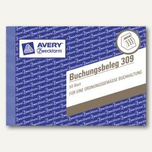 Zweckform Buchungsbelege, DIN A6 quer, 50 Blatt, 309