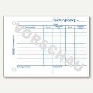 Artikelbild: Buchungsbelege 308/309 mit T-Konto & Buchungstext