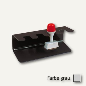 MAUL 4er-Stempelträger, gerade Form, 15.5 x 6.5 x 6 cm, grau, 3 St., 5220482