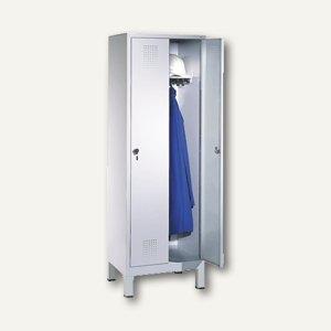 EVOLO Garderobenschrank, H185xB61xT50 cm, lichtgrau, 2 Abteile, 48010-20/7035, 4