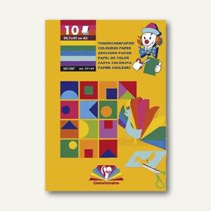 Fotokarton-Block DIN A3 sortiert 10 Blatt