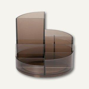 MAUL Rundbox, Höhe 125 mm, Ø140 mm, rauchglas, 2 Stück, 4117606