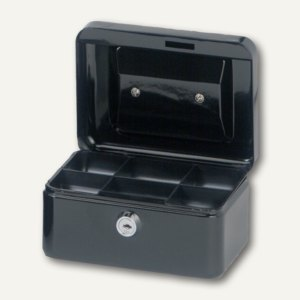 MAUL Geldkassette 1, 15.2 x 12.5 x 8.1 cm, schwarz, 5610190