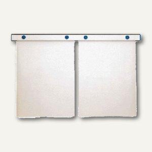 "MAUL Magnet-Wandschiene ""design"", (B)100 cm, inkl. 4 Magnete, silber, 6250094"