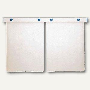 "MAUL Magnet-Wandschiene ""design"", (B)100 cm, inkl. 4 Magnete, grau, 6250084"