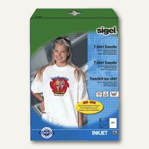 Sigel Transferfolie für helle T-Shirts, weiß, 3 Blatt, IP650
