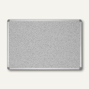 "Hebel Pinnboard ""Office"", Struktur, 60 x 90 cm, Aluminiumrahmen, grau, 6276284"