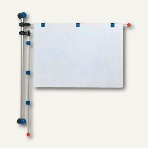 MAUL Wandpresenter, Höhe 1 m, für DIN A0, Alu, blau, 6253035