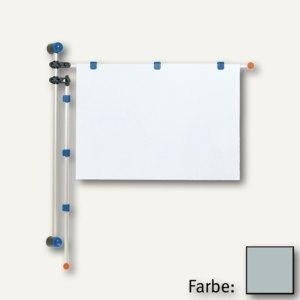 MAUL Wandpresenter, Höhe 1 m, für DIN A0, Alu, grau, 6253084