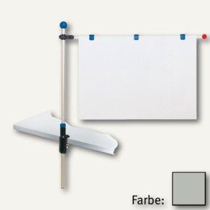 MAUL Tischpresenter, Höhe bis 1.20 m, für DIN A1, silber, 6255094