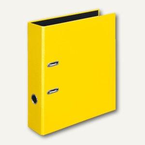 Ordner VELOCOLOR DIN A4, Karton, Hebelmechanik Ø 60 mm, gelb, 6 Stück, 4142310