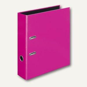 Ordner VELOCOLOR DIN A4, Karton, Hebelmechanik Ø 60 mm, pink, 6 Stück, 4142371