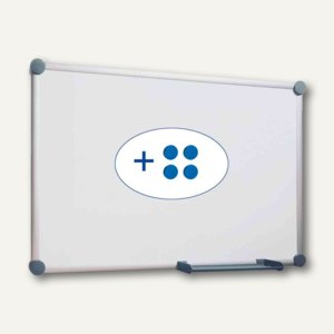 Hebel Whiteboard 2000, 100 x 150 cm, Ablageschale, grau, 6304684