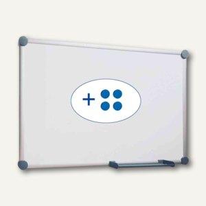Hebel Whiteboard 2000, 90 x 180 cm, Ablageschale, grau, 6304084
