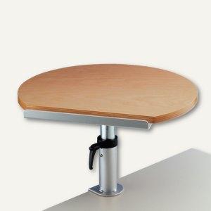 MAUL Ergonomisches Tischpult, Klemmfuß, 30kg höhenverstellbar, Buche, 9301070