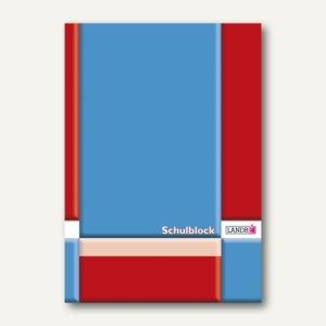 Landré Berufsschulblock DIN A4, Lineatur 28, kariert, 50 Blatt, 100050455