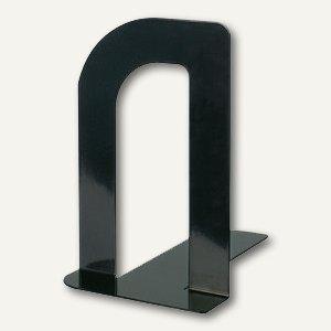 """MAUL Buchstützen """"Design"""", 12 x 8.5 x 13.5 cm, Metall, schwarz, 10 Paar, 3522090"""