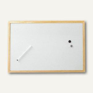 Hebel Whiteboard mit Holzrahmen, 60 x 90 cm, inkl. Zubehör, 10 Stück, 2536002