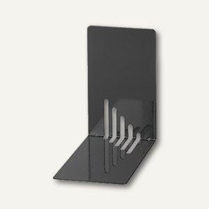 MAUL Buchstützen Metall, schmal, 14 x 8,5 x 14 cm, schwarz, 3 Paar, 3501090
