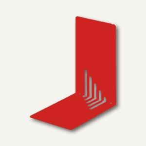 MAUL Buchstützen Metall, schmal, 14 x 8,5 x 14 cm, rot, 3 Paar, 3501025