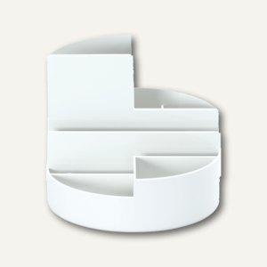 MAUL Rundbox, Höhe 125 mm, Ø 140 mm, weiß, 2 Stück, 4117602