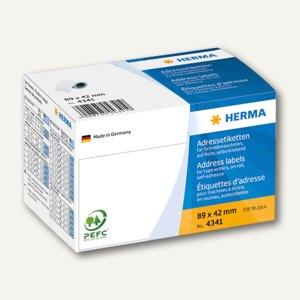 Herma Adress-Etiketten auf Rolle, 89 x 42 mm, weiß, 250 St./Pack, 4341