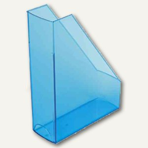 Helit Stehsammler, PP, DIN A4/C4, Griffloch, blau-transp., 2 St., H2361430