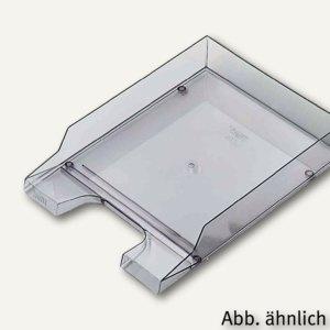 Briefablage DIN A4/C4, PP, hochglänzend, grau-transparent, 5 Stück, H2361508