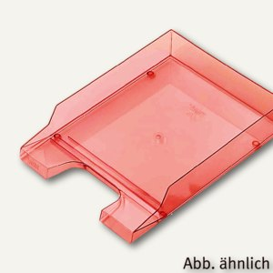 Helit Briefablage DIN A4/C4, PP, hochglänzend, rot-transparent, 5 Stück,H2361520